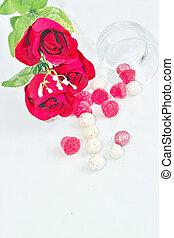 fleurs, 4, bonbon