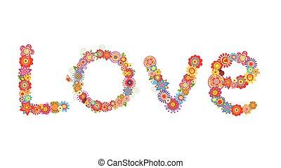 fleurs, amour