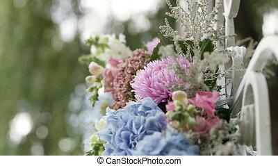 fleurs, arrangement, severals