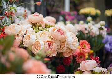 fleurs, artificiel