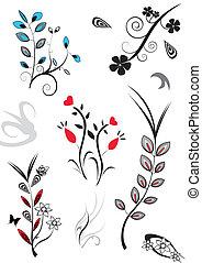 fleurs, assorti