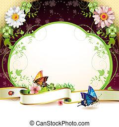 fleurs, bannière