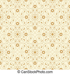 fleurs, beige