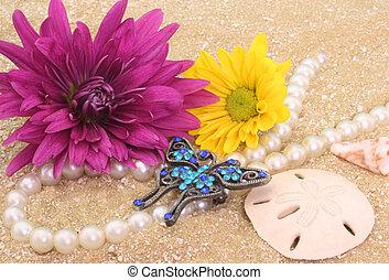 fleurs, bijouterie