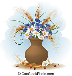 fleurs, blé, oreilles