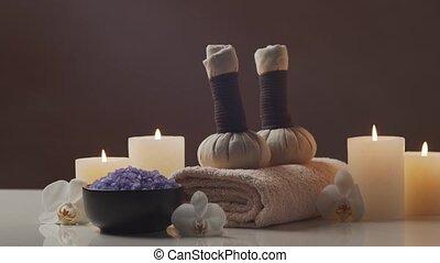 fleurs, bougies, composition, oriental, balls., herbier,...
