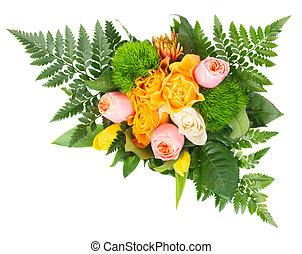 fleurs, bouquet, frais, printemps