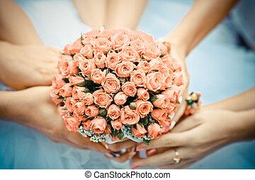 fleurs, bouquet, mariage
