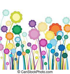 fleurs, champ