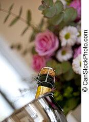 fleurs, champagne