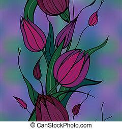 fleurs, claret, fond