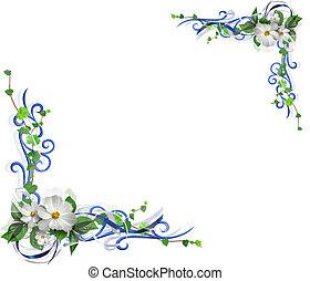 fleurs, coin