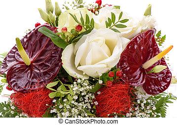 fleurs, coloré, tas