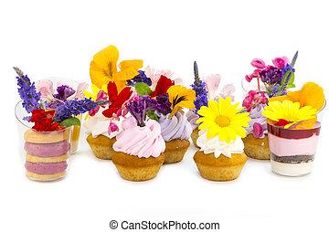fleurs, comestible, canaps