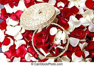 fleurs, décoration, pétales