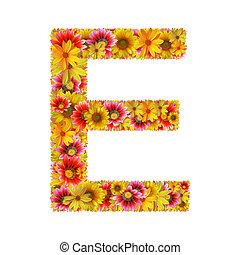 fleurs, e, lettre