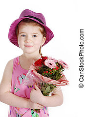 fleurs, enfants