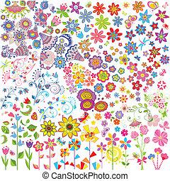 fleurs, ensemble
