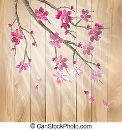 fleurs, fleur, printemps, cerise