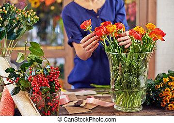 fleurs, fonctionnement