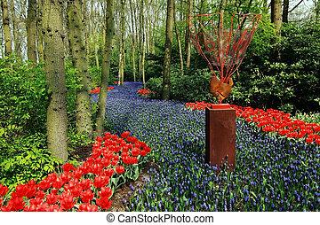fleurs, forêt