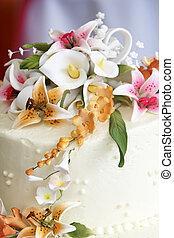 fleurs, gâteau mariage