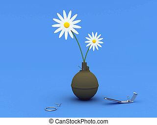 fleurs, grenade