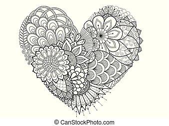 fleurs, hearted, forme