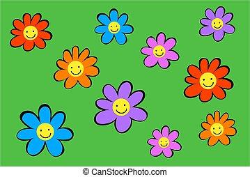 fleurs, heureux