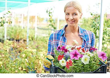 fleurs, jardinier