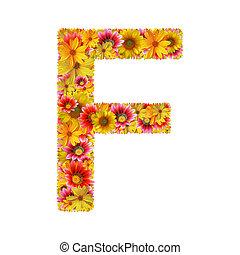 fleurs, lettre f