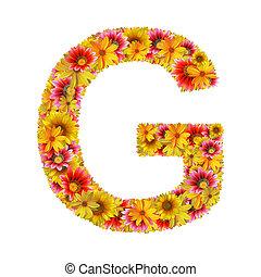 fleurs, lettre g