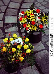fleurs, marché