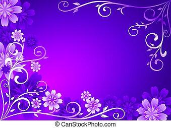 fleurs, ornement, violet