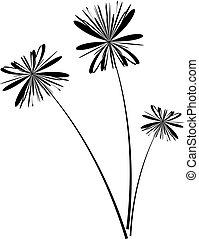 fleurs, palmiers