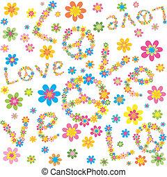 fleurs, papier peint