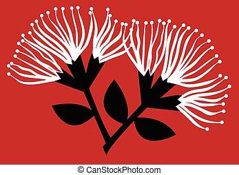 fleurs, pohutukawa