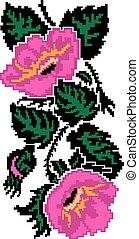 fleurs, (poppies), image, couleur