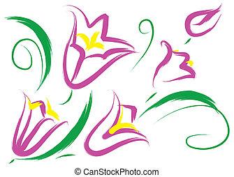fleurs pourpres, nature morte