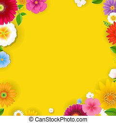 fleurs ressort, affiche