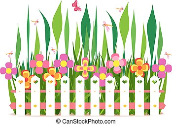 fleurs ressort, barrière
