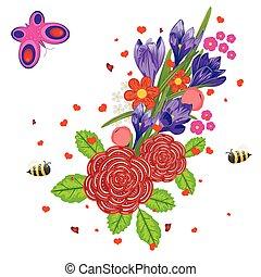 fleurs ressort, clair