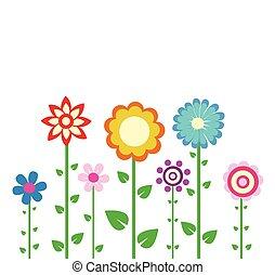 fleurs ressort, coloré