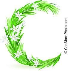 fleurs ressort, lettre, une