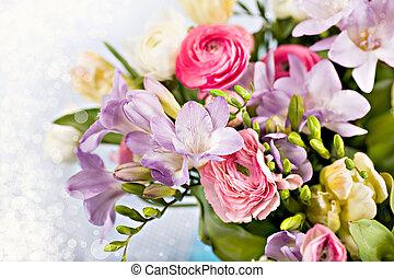 fleurs ressort, tas