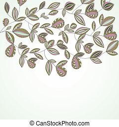 fleurs ressort, vecteur, coloré
