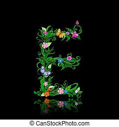 fleurs, romantique, lettre
