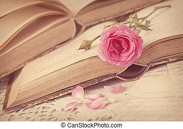 fleurs roses