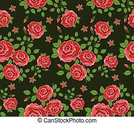 fleurs, seamless, fond