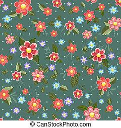 fleurs, seamless, texture